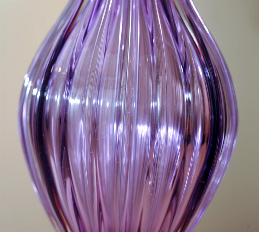 purple glass lamps photo - 10