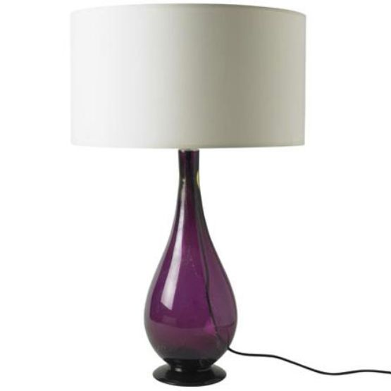 purple glass lamps photo - 2