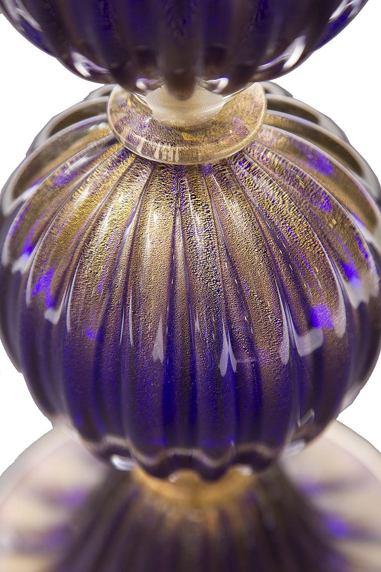 purple glass lamps photo - 4