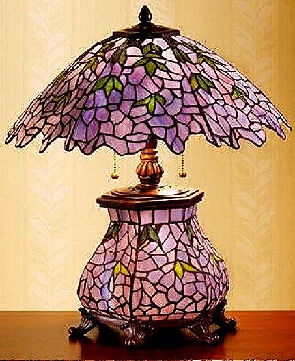 purple glass lamps photo - 7