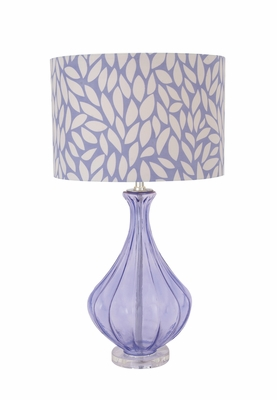 purple glass table lamp photo - 6