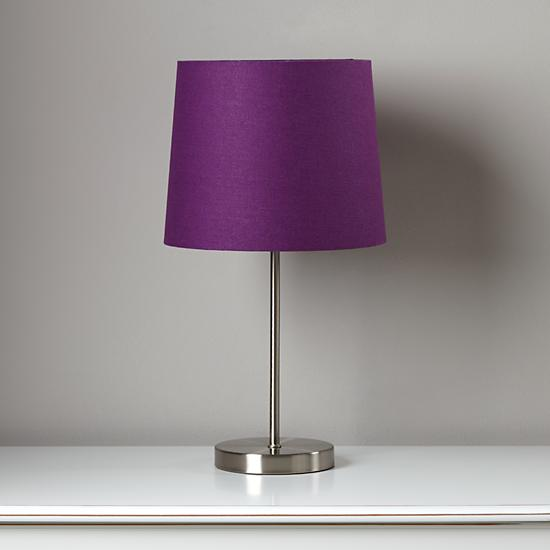 purple glass table lamp photo - 9