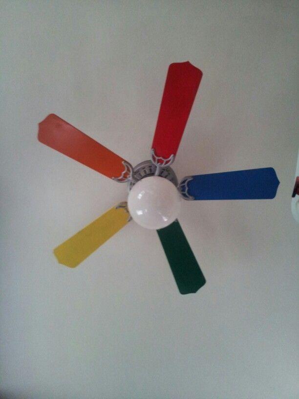 rainbow ceiling fan photo - 2