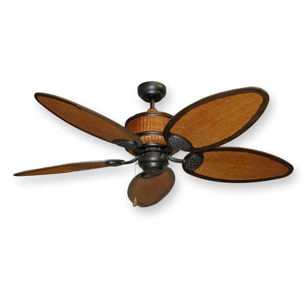 rattan ceiling fans photo - 2