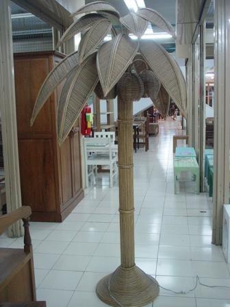 rattan floor lamps photo - 8
