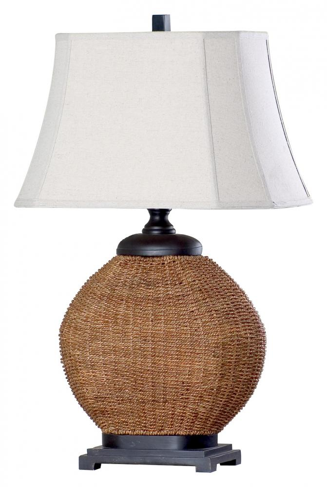 rattan table lamps photo - 7