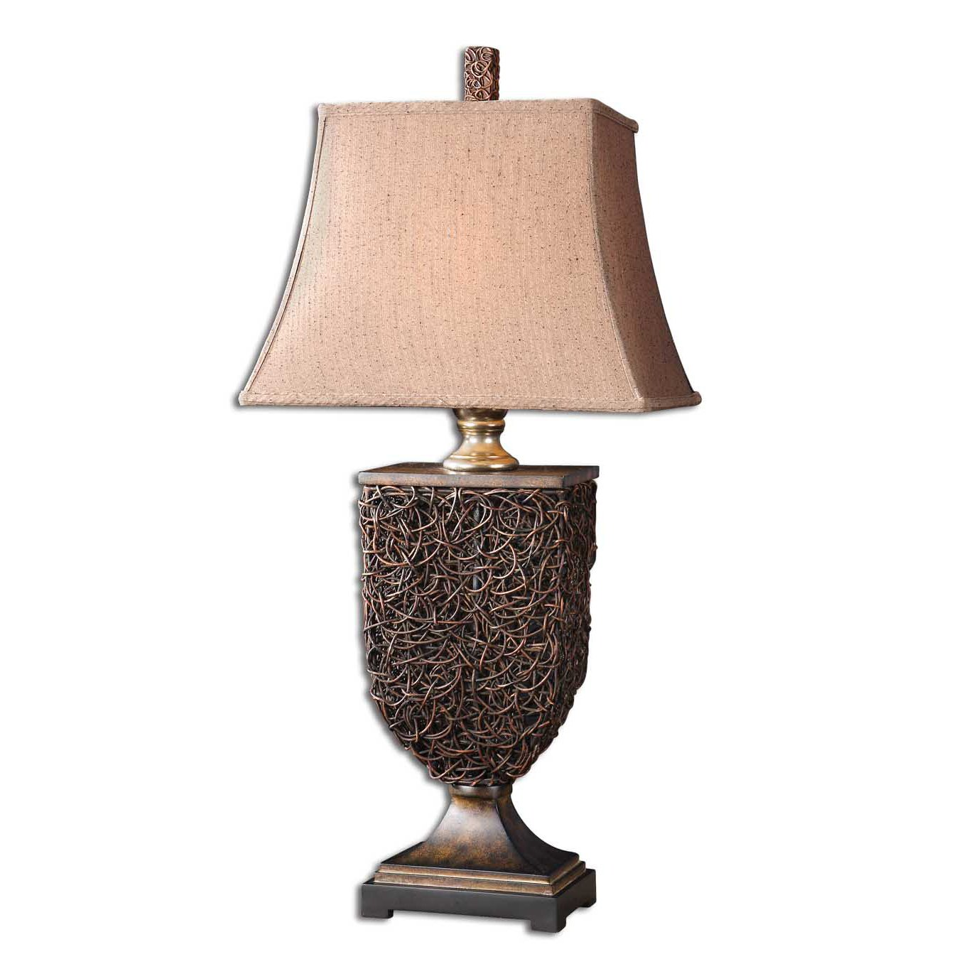 rattan table lamps photo - 8