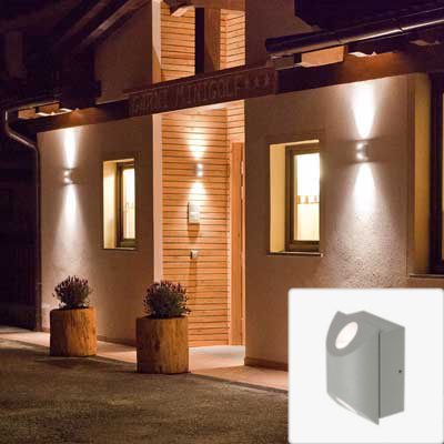 recessed external wall lights photo - 6