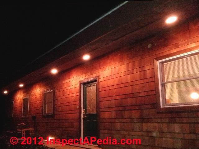 Exterior downlights recessed
