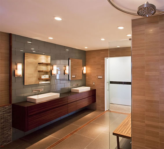 recessed wall light fixtures photo 5 - Lighting For Bathrooms