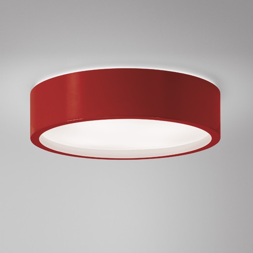 red ceiling light photo - 4