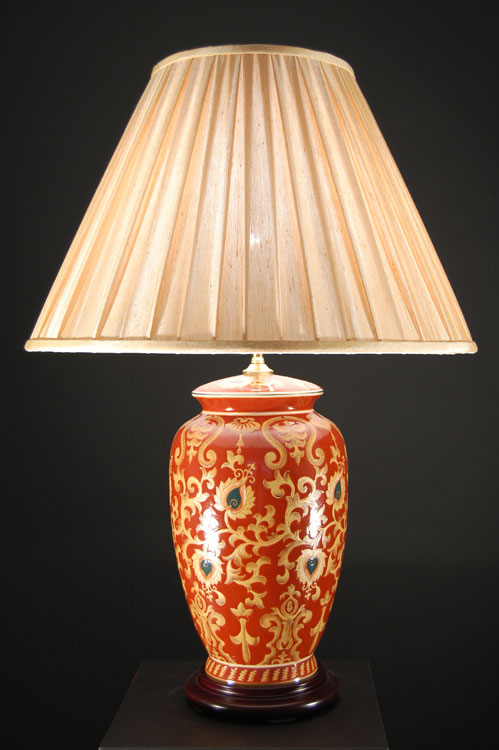 Superior Great Red Ceramic Table Lamp Warisan Lighting With Ceramic Table Lamps.