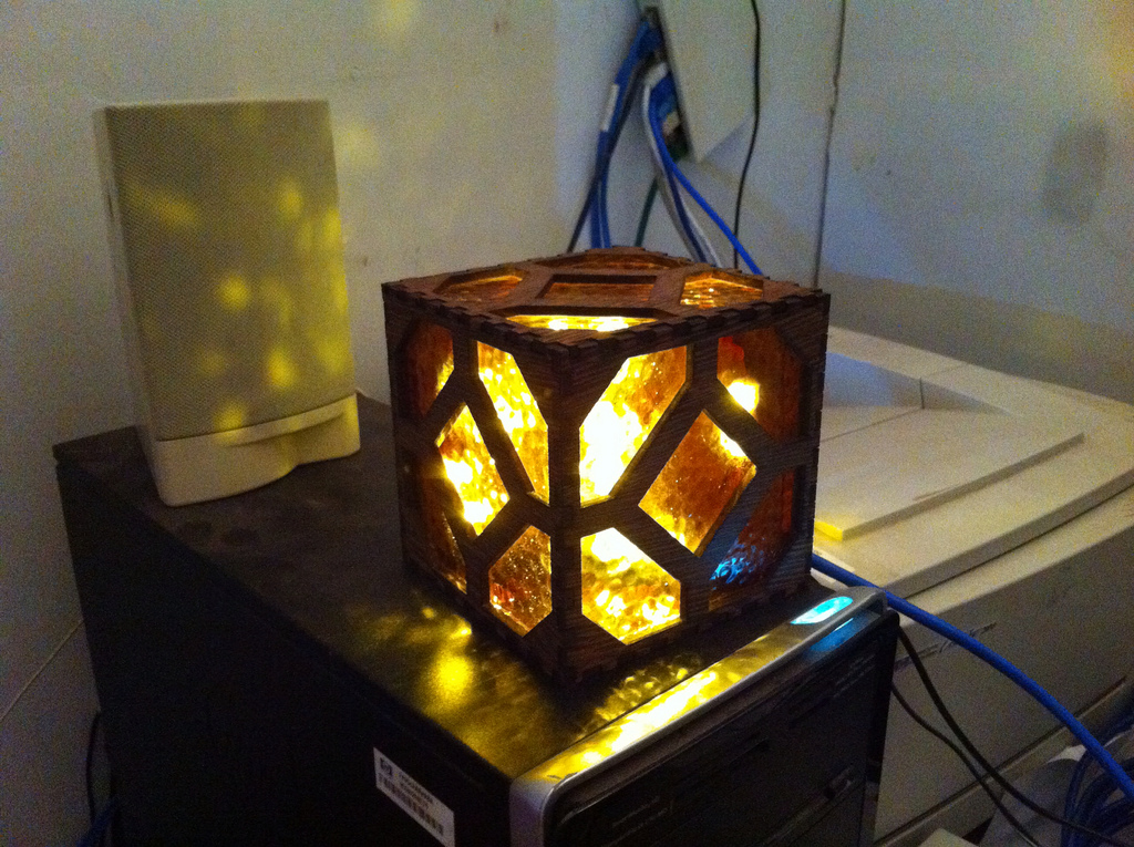 Create Your Own Redstone Lamp From Minecraft Game