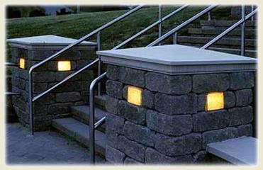 retaining wall lights photo - 10