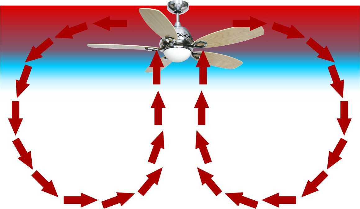 when to reverse ceiling fan