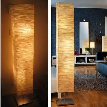 rice paper floor lamps photo - 8