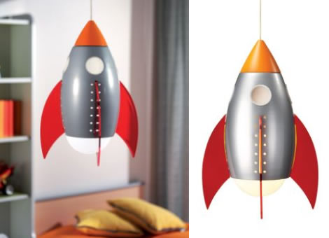 rocket ceiling light photo - 1