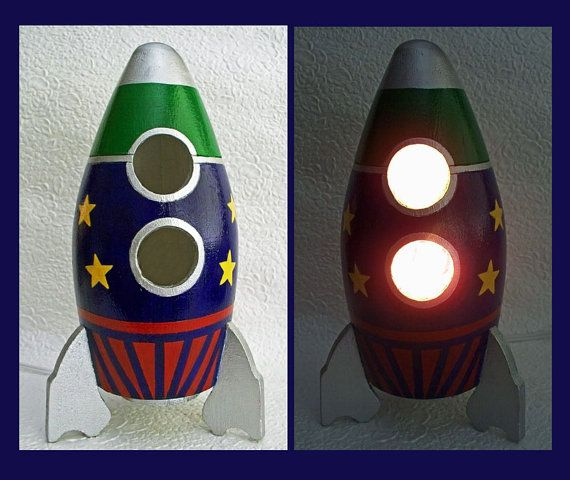 rocket ship lamp photo - 5