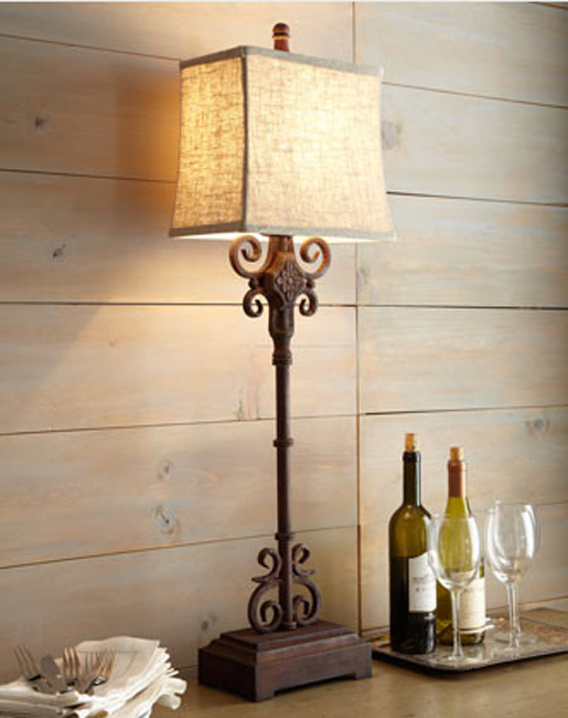 rod iron table lamps photo - 1