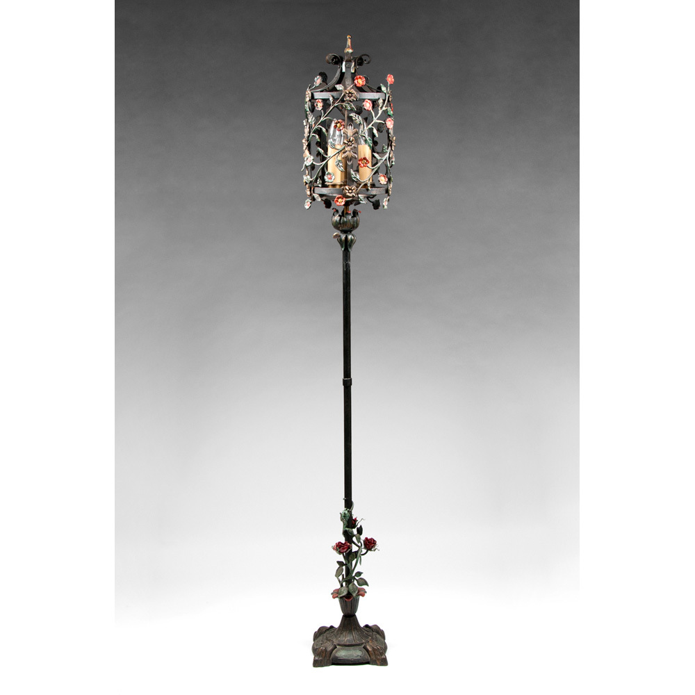 rod iron table lamps photo - 9