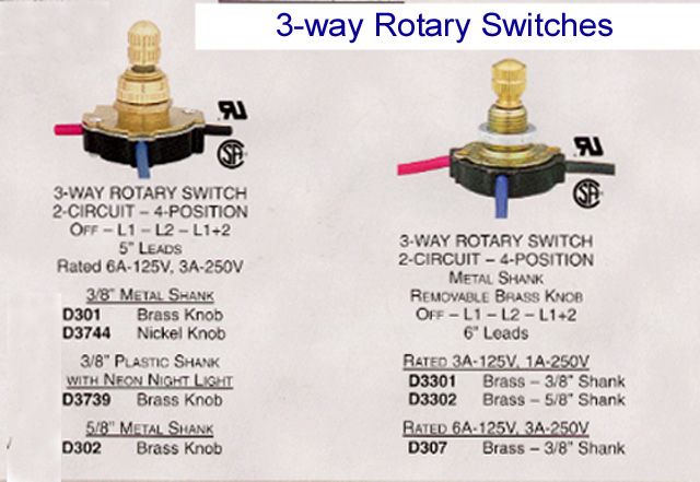 rotary lamp switch - rotate to the correct light ... 2 socket lamp wiring diagram floor lamp wiring diagram