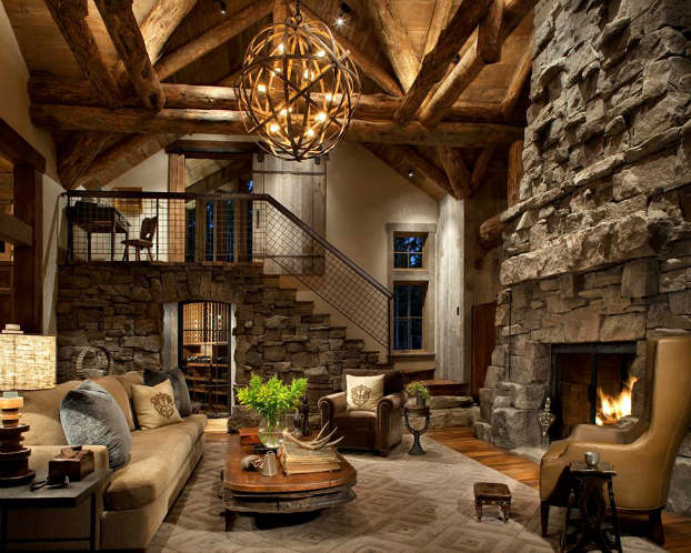 rustic ceiling lights photo - 6