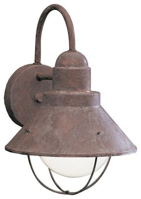 rustic outdoor lights photo - 5