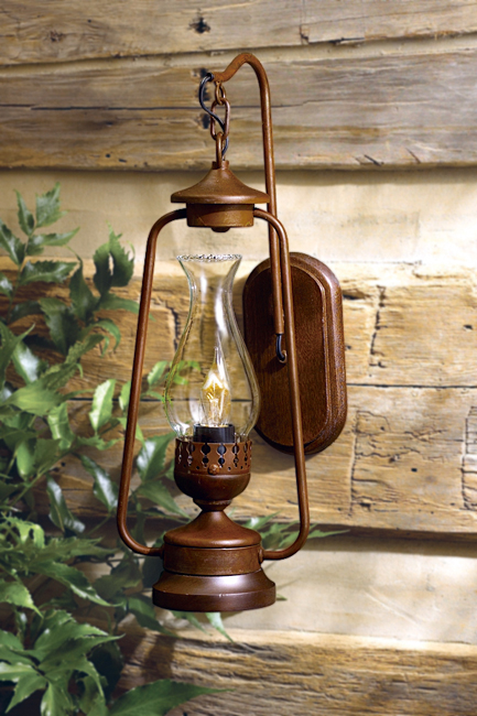 rustic wall lights photo - 1