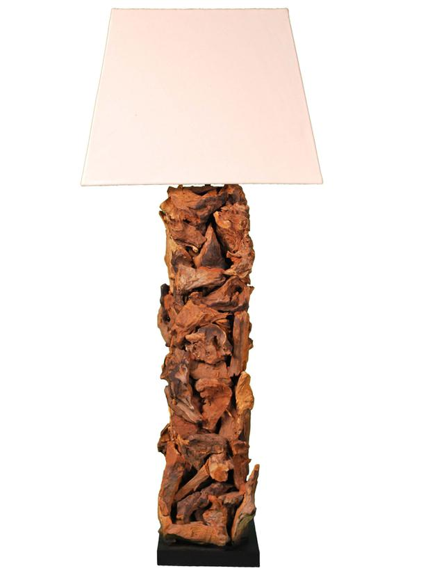 rustic wood lamps photo - 10