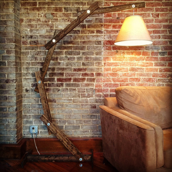 rustic wood lamps photo - 2