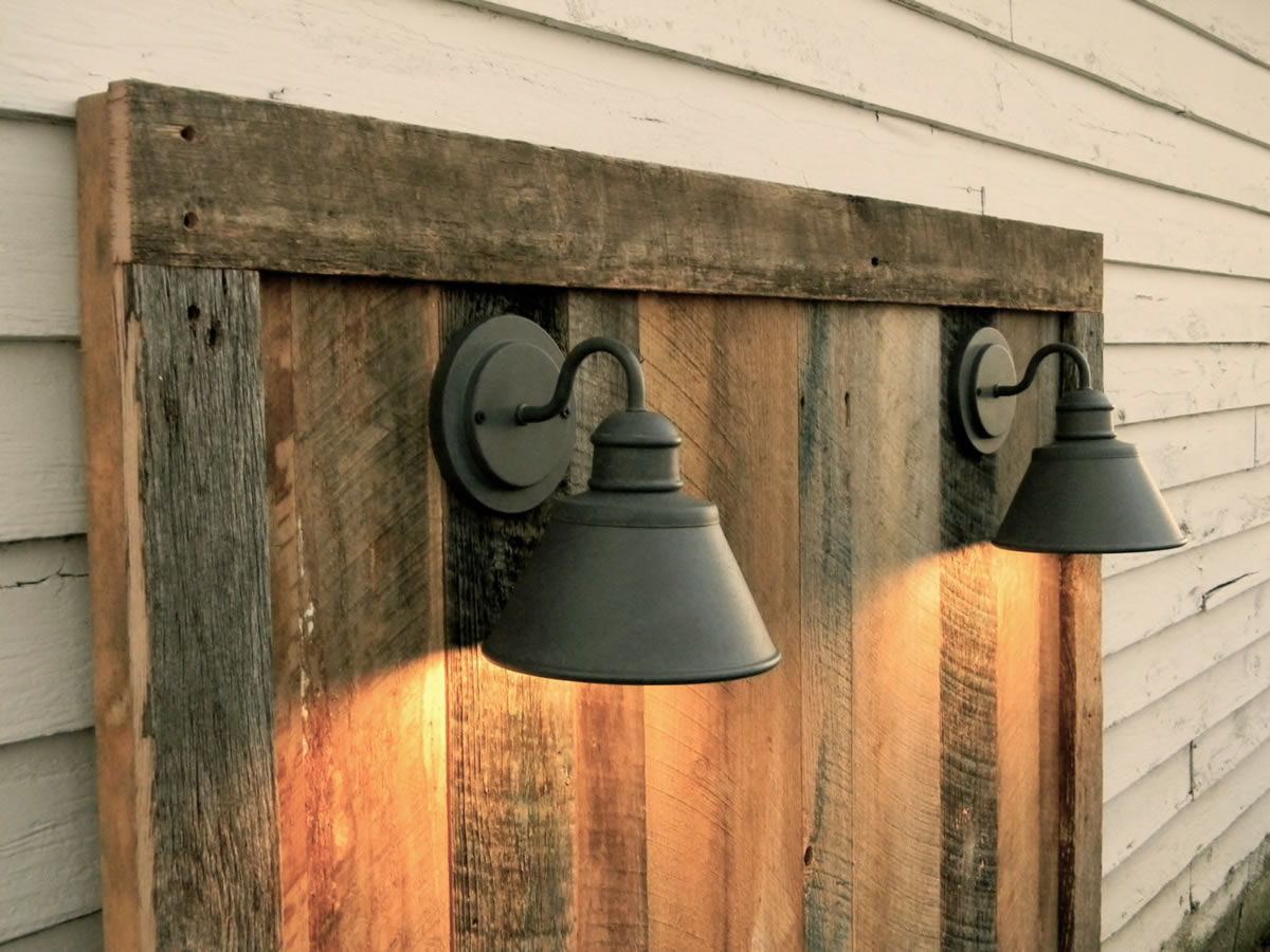 rustic wood lamps photo - 5