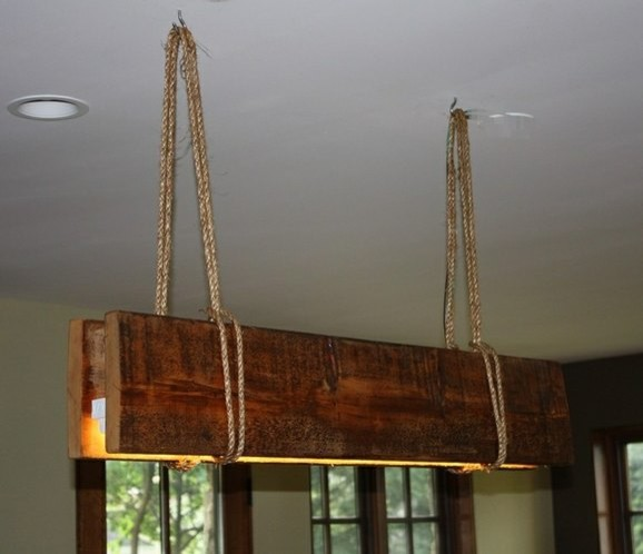 rustic wood lamps photo - 9