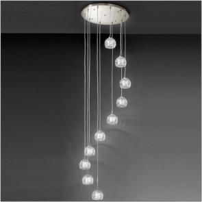 satin chrome ceiling lights photo - 8