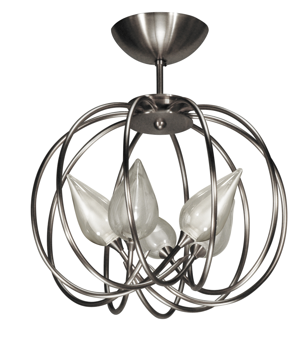 Satin Nickel Ceiling Light Fixtures: satin nickel ceiling lights photo - 3,Lighting