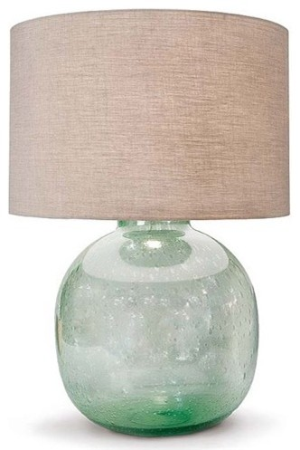 sea glass table lamp photo - 1