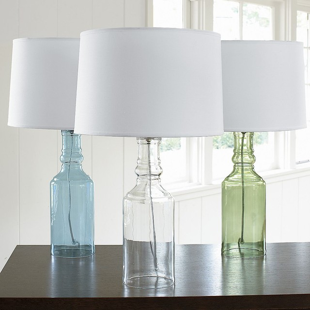 sea glass table lamp photo - 10
