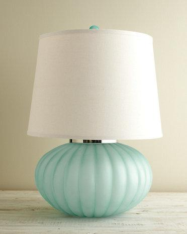 sea glass table lamp photo - 3