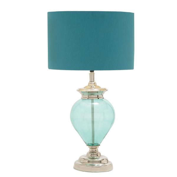 sea glass table lamp photo - 6