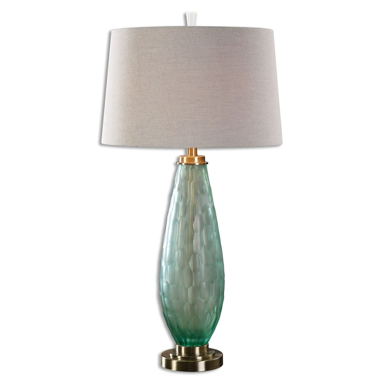 sea glass table lamp photo - 8