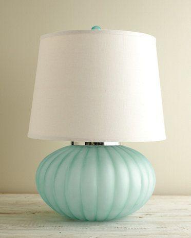 sea glass table lamp photo - 9