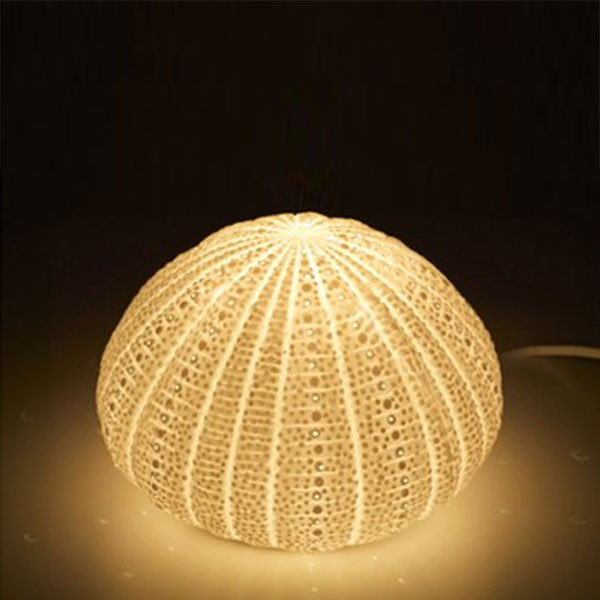 Sea urchin lamp - the design of the aquatic animal | Warisan Lighting