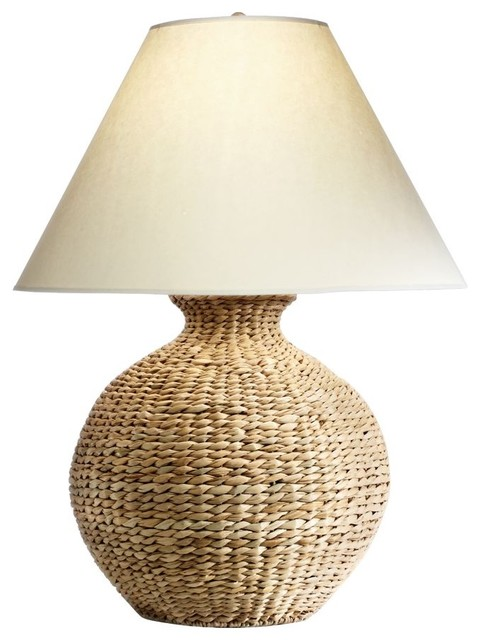 seagrass table lamp photo - 1