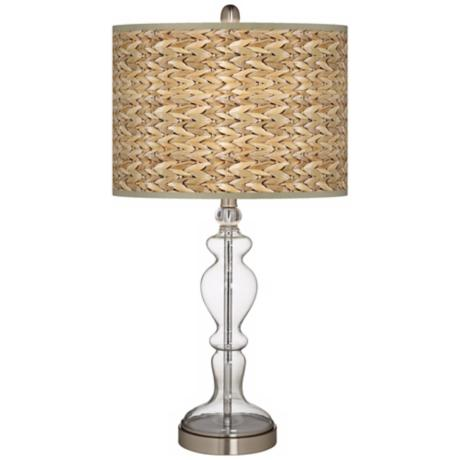 seagrass table lamp photo - 3