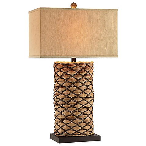 seagrass table lamp photo - 4