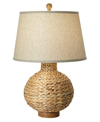 seagrass table lamp photo - 9