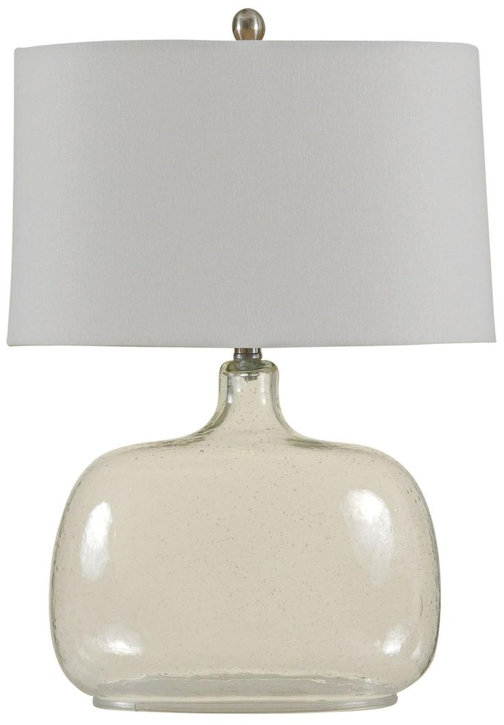 seeded glass table lamp photo - 10