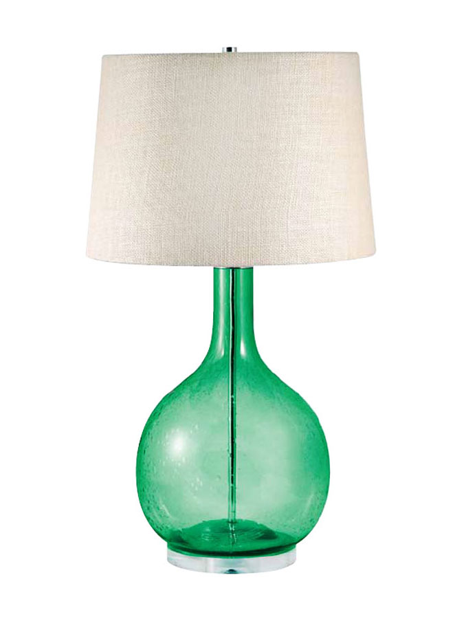 seeded glass table lamp photo - 2