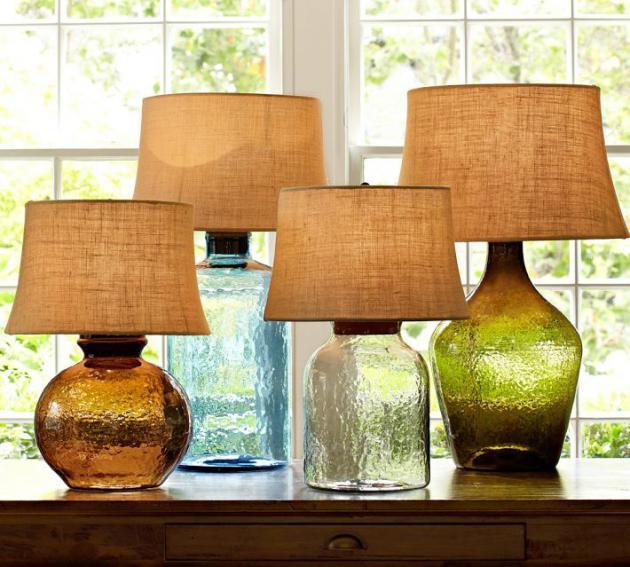 seeded glass table lamp photo - 3
