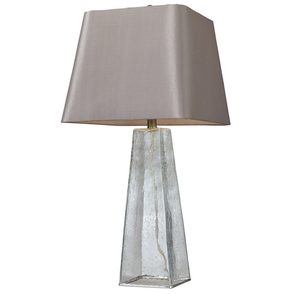 seeded glass table lamp photo - 5