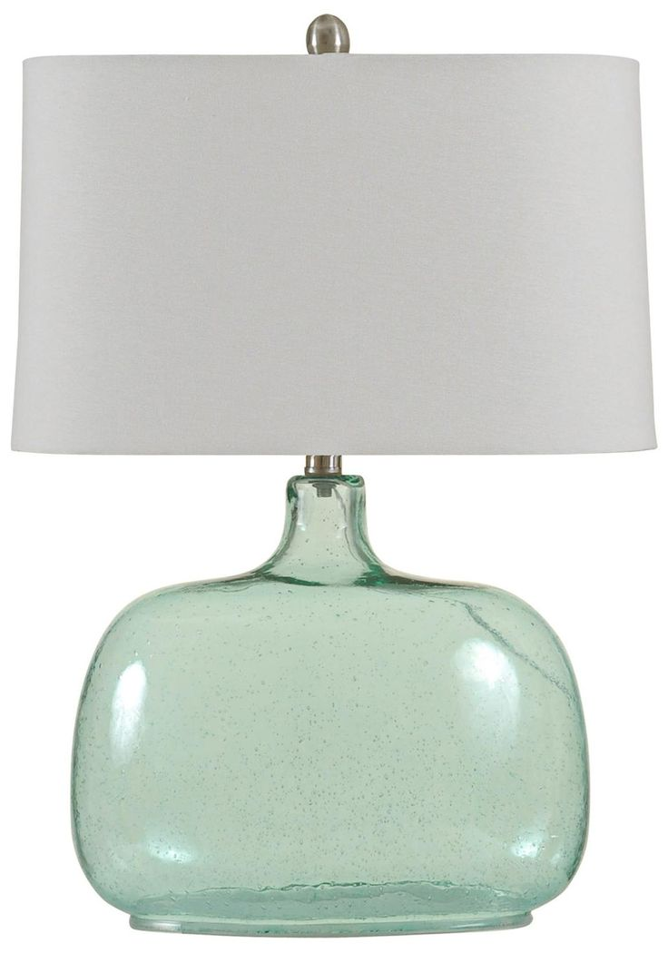 seeded glass table lamp photo - 6
